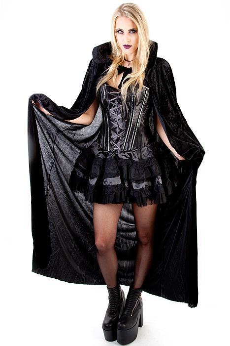 Black Velvet Cape