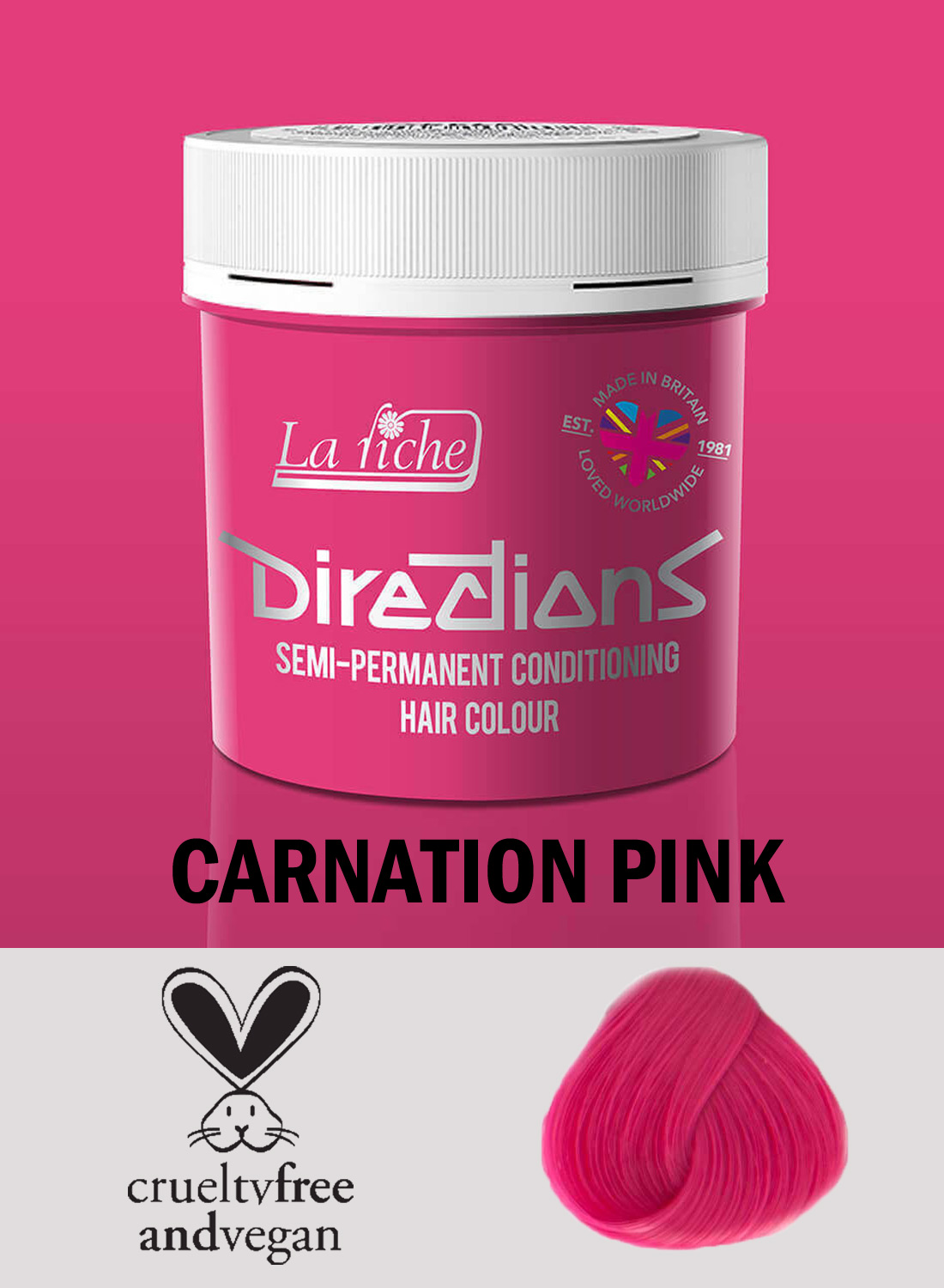 Directions Hair Colour Carnation Pink