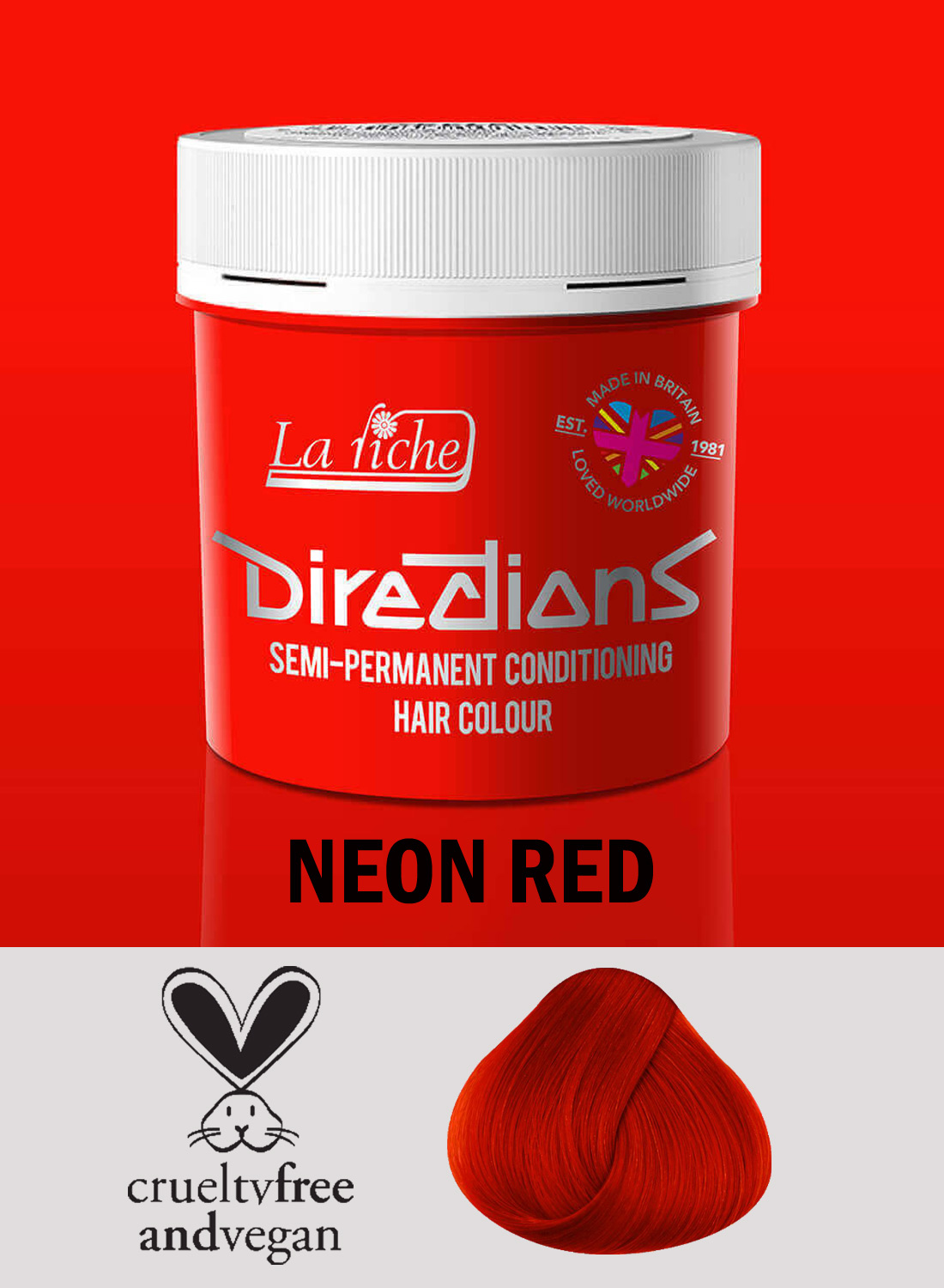 Directions Hair Colour Neon Red