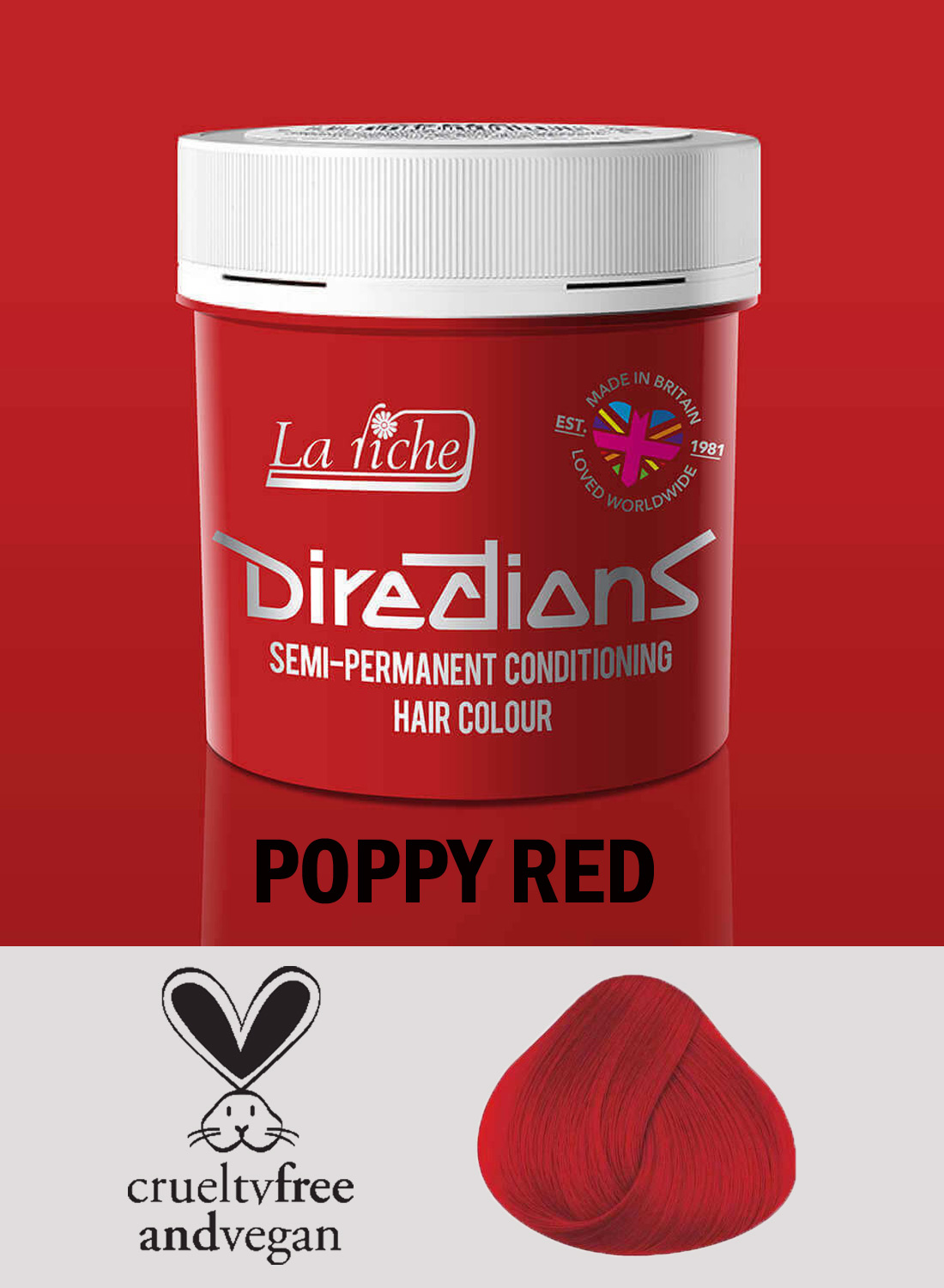 Directions Poppy Red
