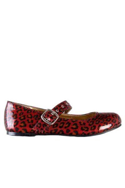 Mary Jane Cheetah Flat