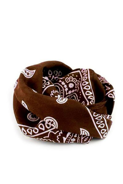 Bandanas Paisley Brown