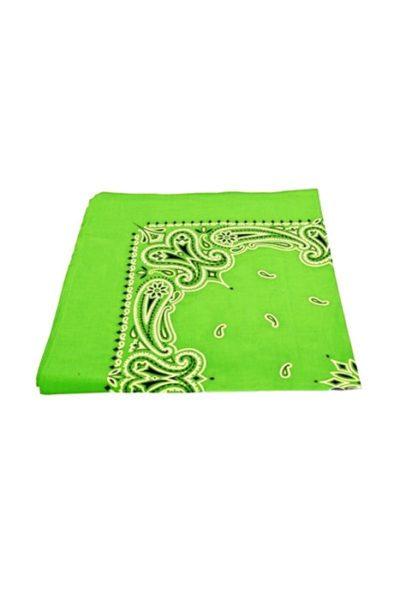 Bandanas Paisley Neon Green