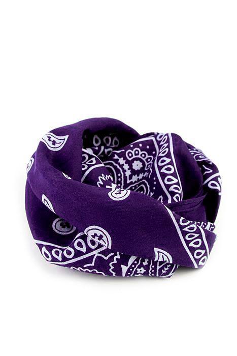 Bandanas Paisley Purple