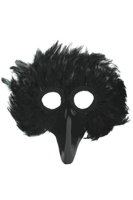 Black Bird Feather Mask