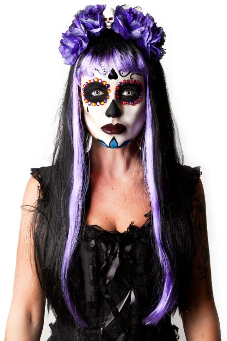 Black/Purple Gothic Glam Wig