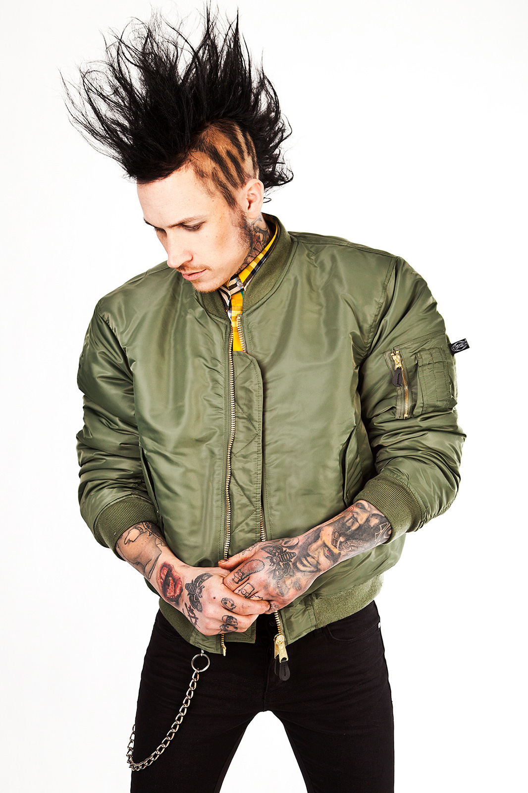 MA 1 Bomber Jacket Green