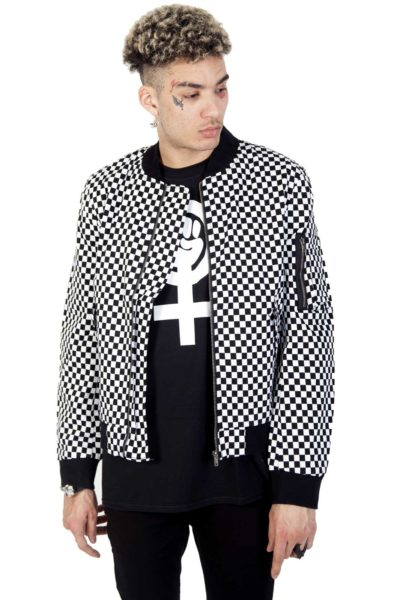 Bomber Jacket Checkered Front