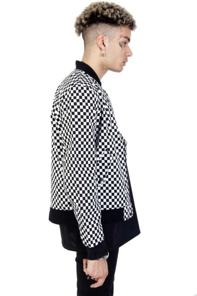 Bomber Jacket Checkered Side