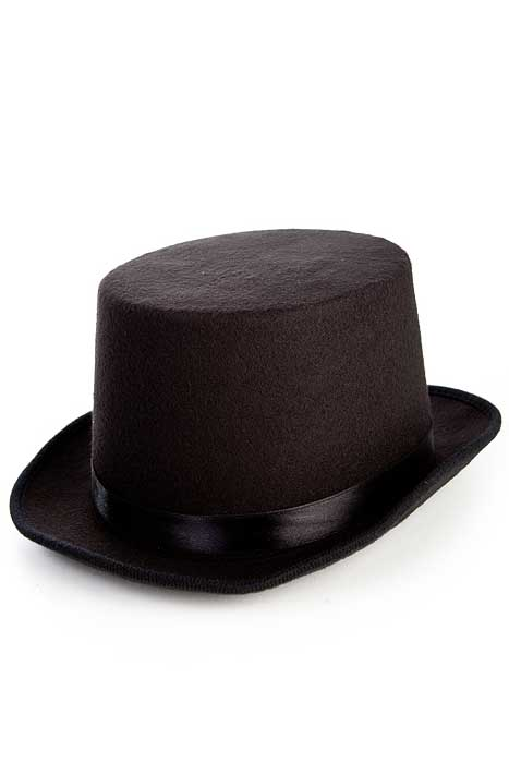 Deluxe Felt Top Hat Black