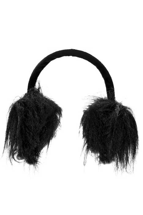 Fur Muffs Black