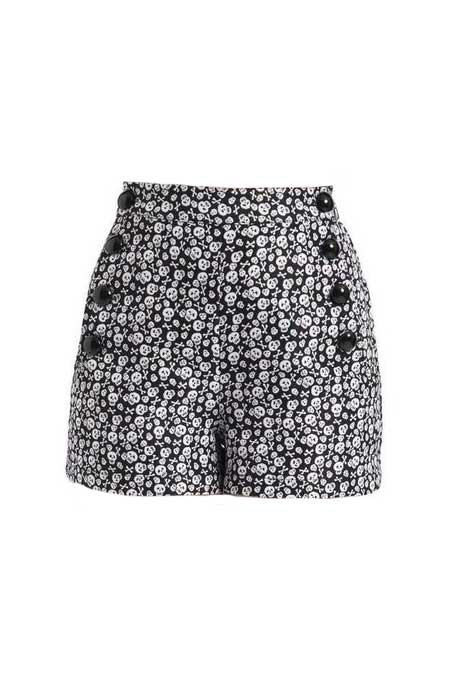 Highwaist Skull Shorts