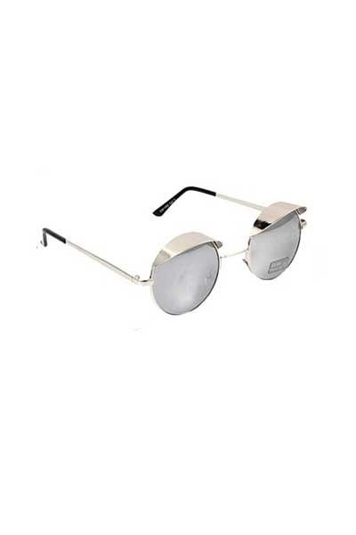 Hooded Visor Sunglasses Silver