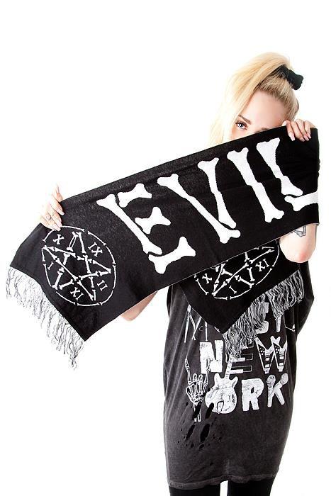 Knit Scarf Evil Cunt