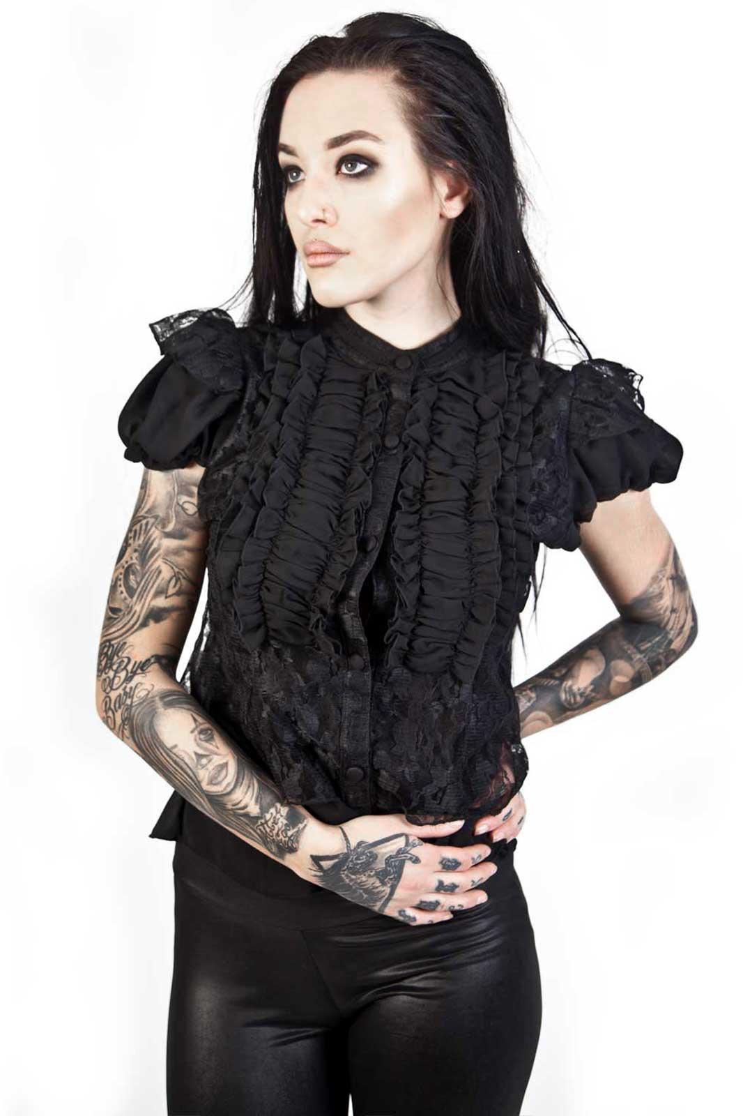 Katie Shirt Chiffon Front