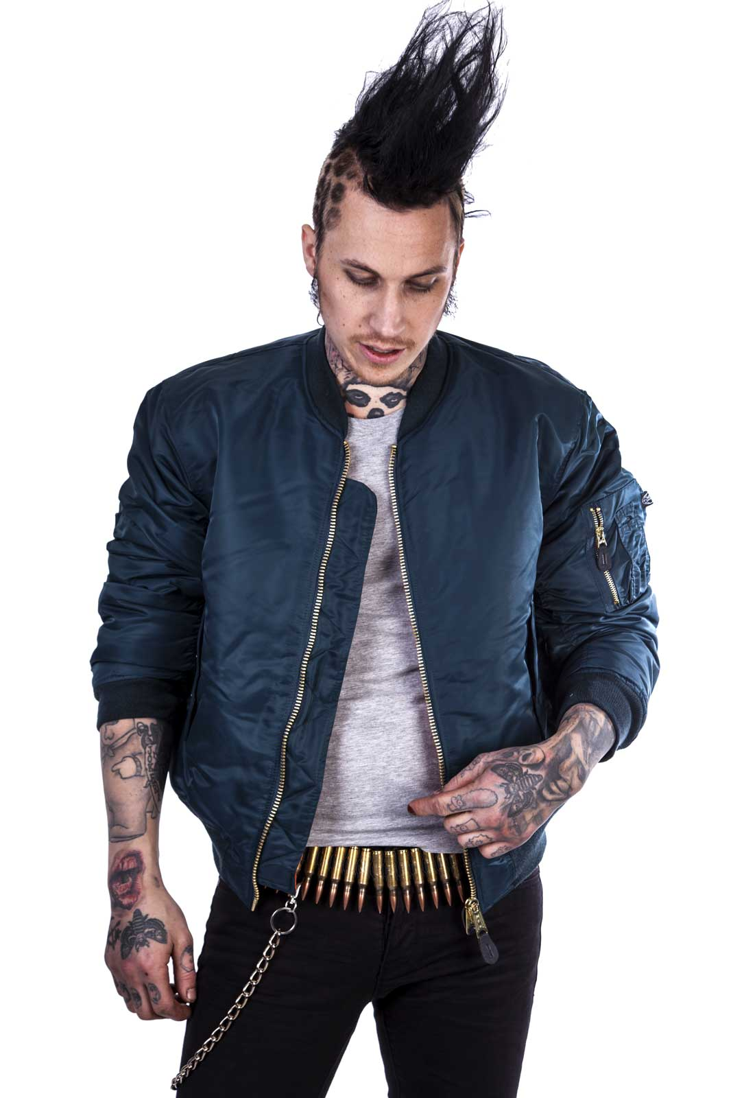 Ma 1 Bomber Jacket Navy