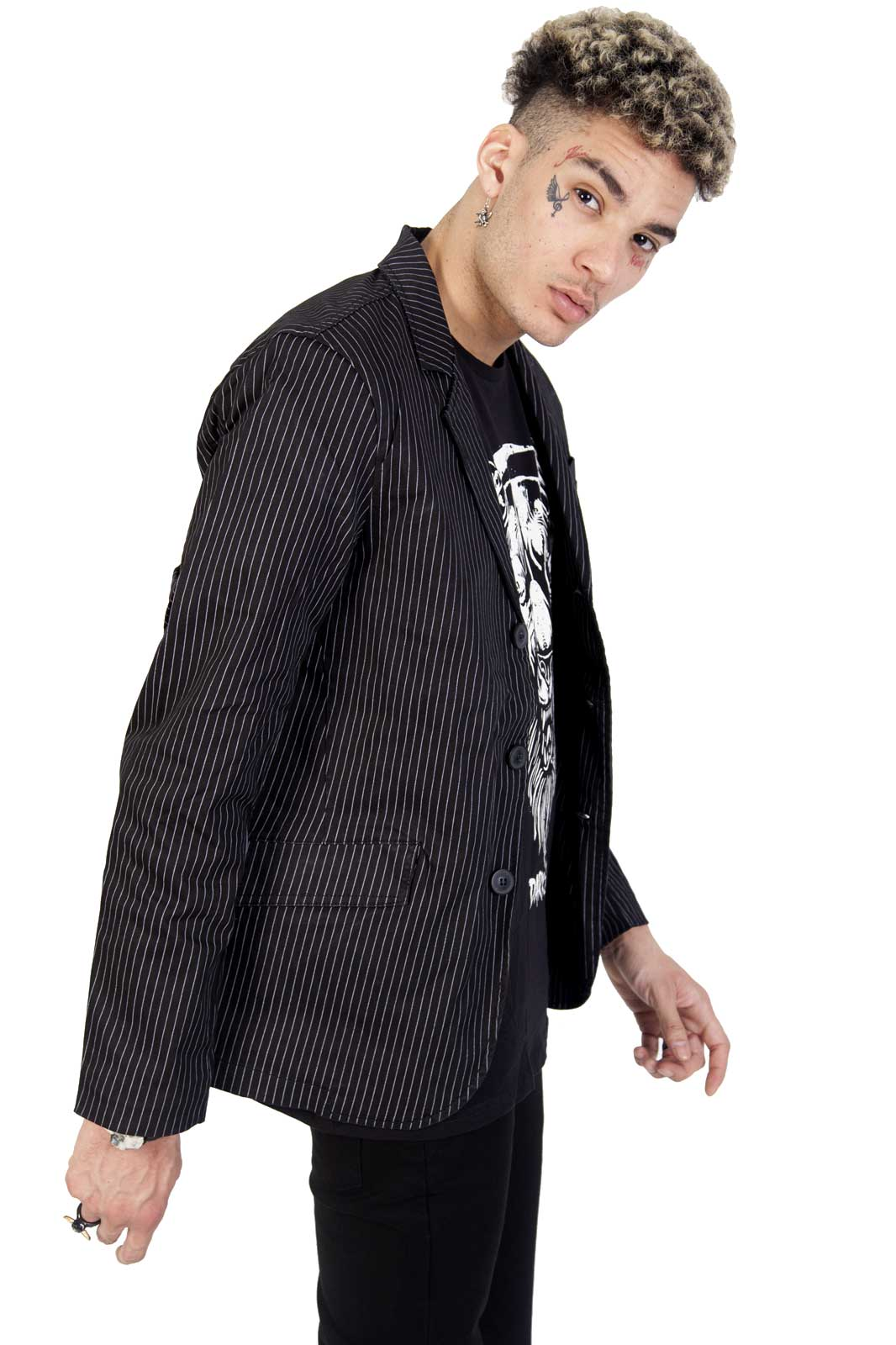 Mens Pinstriped Top cat jacket