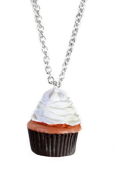 Necklace brown cupcake