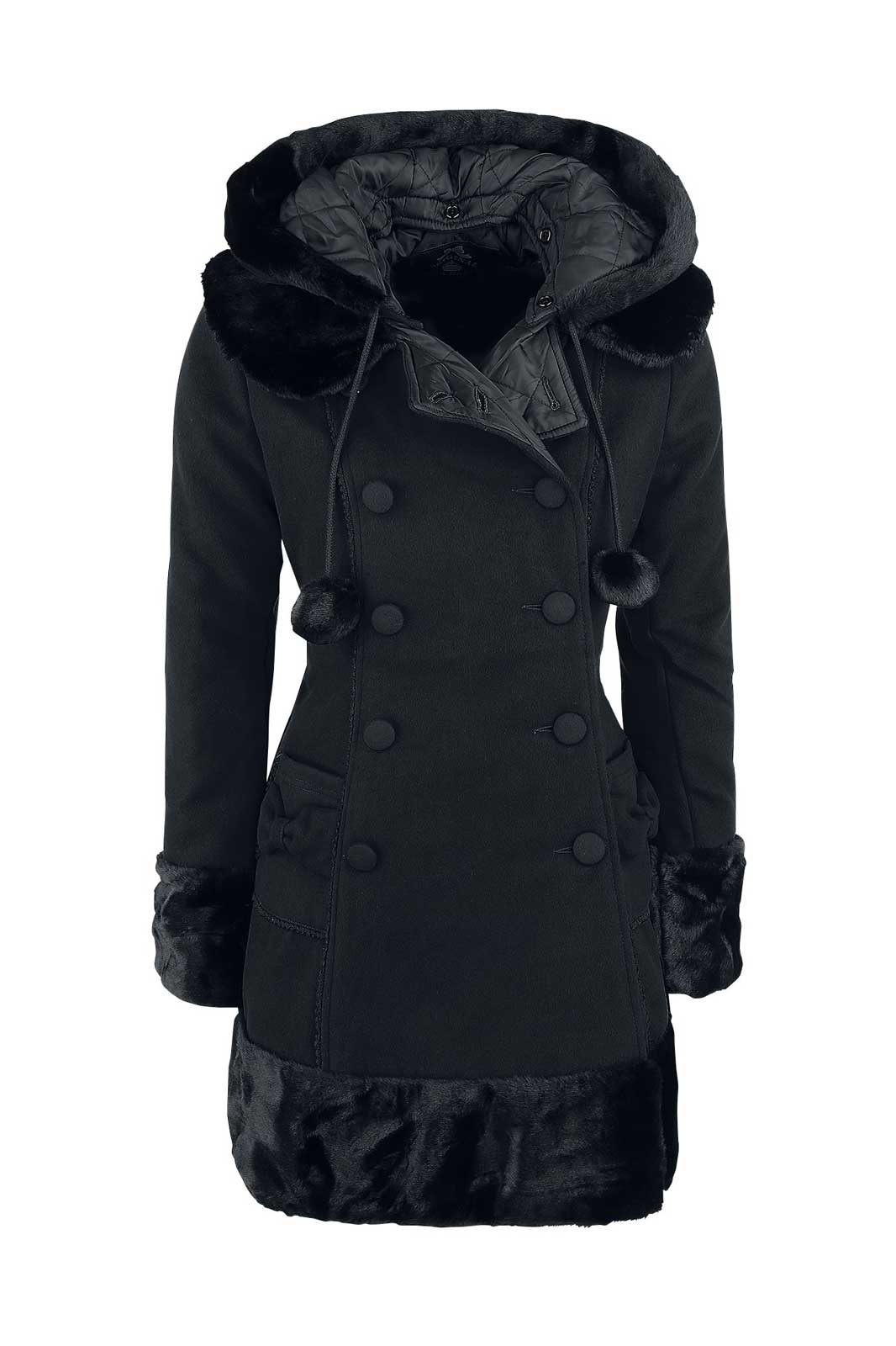 Sarah Jane Coat Black Front