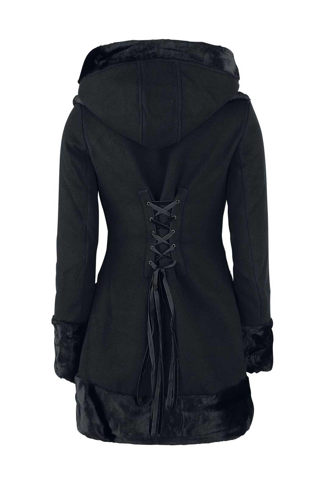 Sarah Jane Coat Black Back