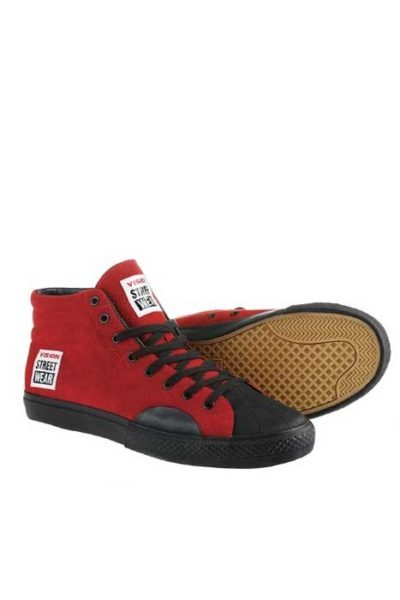 Suede Hi Red