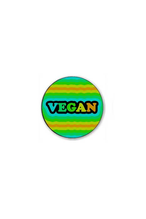 Multicolor Vegan Badge
