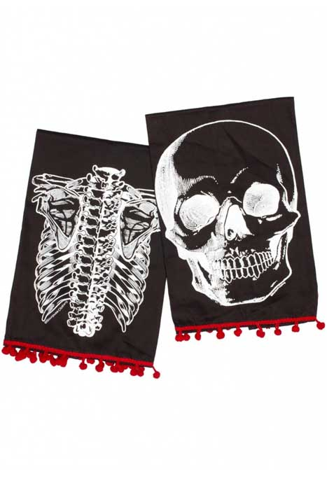 Tea Towel X-Ray Skeleton
