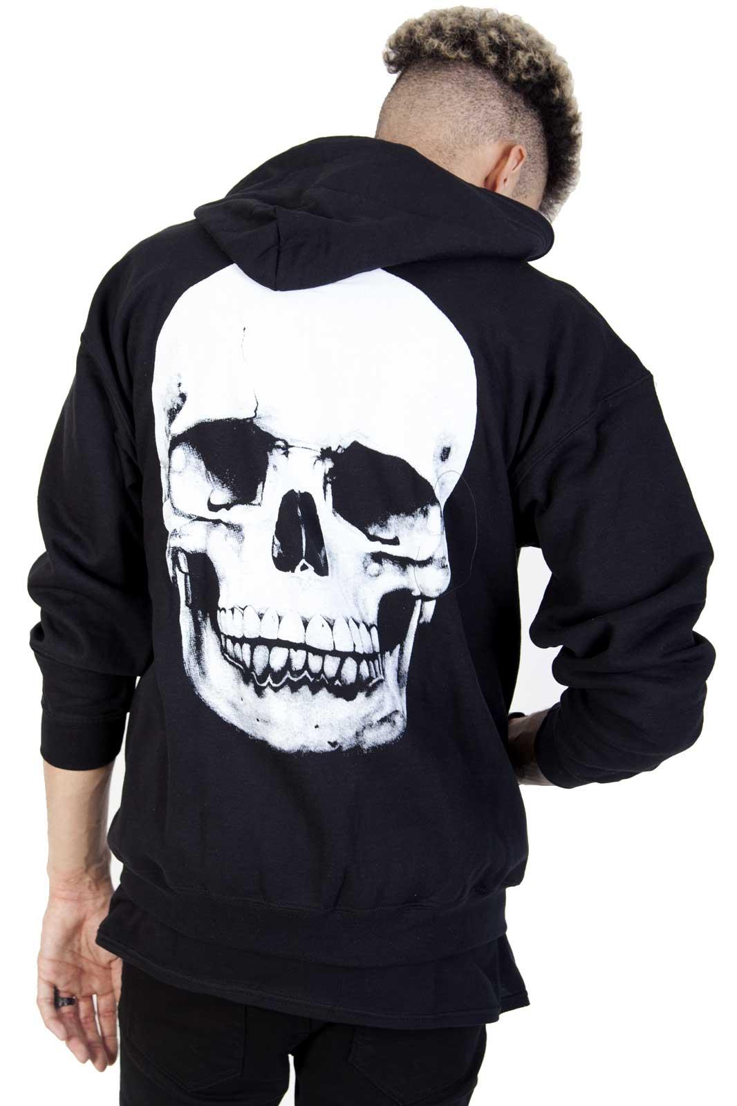 Zip hoodie Skull Back