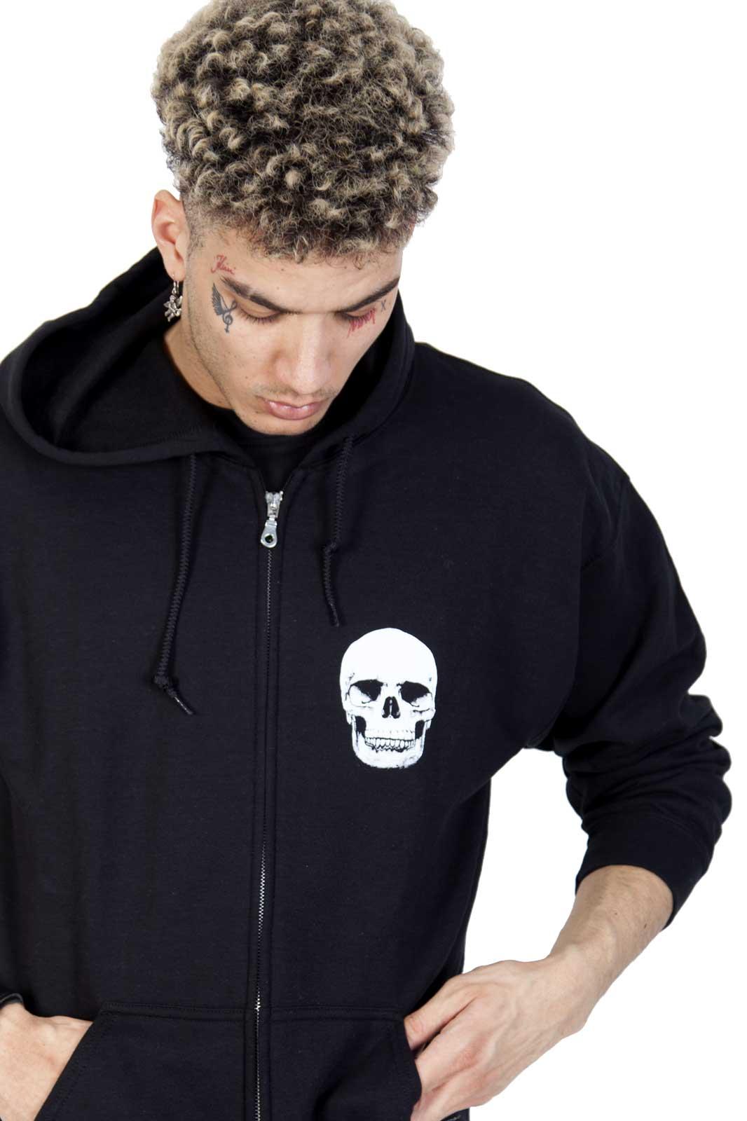Köp din Zip hoodie Skull hos Shock! Hoodie med döskalle från Tronseal 0d1cc5f0c60bc