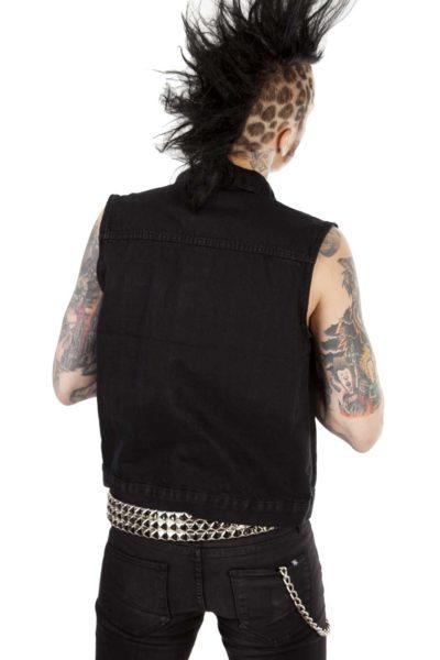 Denim Vest Black Back