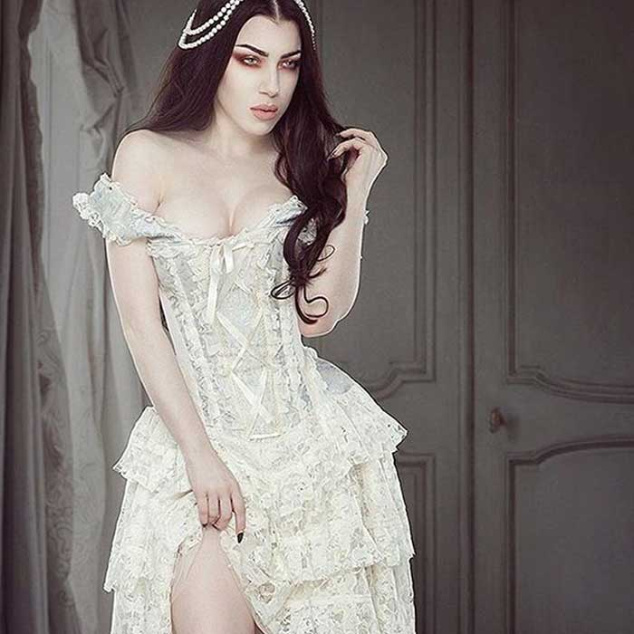 Burlesque Dress Ophelie Off-White