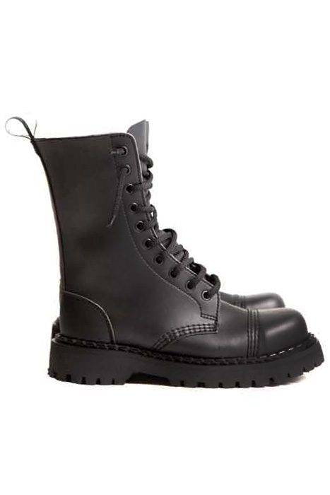 10 EYE STEEL TOE VEGAN BOOTS