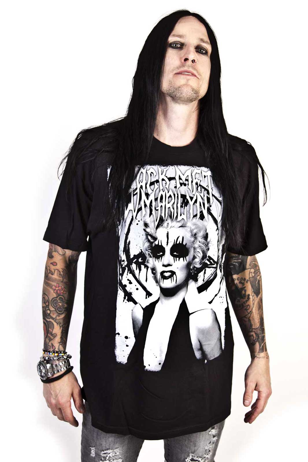 Boys Tee Black Metal Marilyn