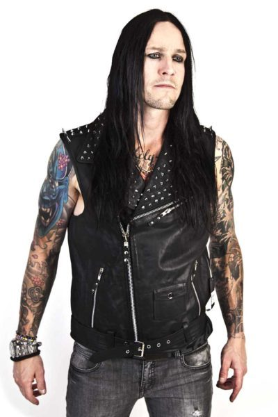 Rocking Leather Vest Black