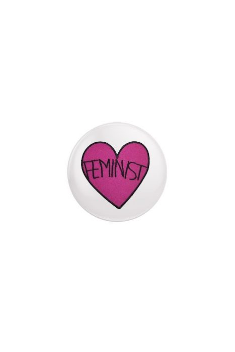 Feminist Heart Badge