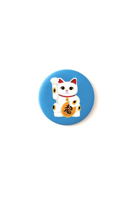 Lucky Cat Badge