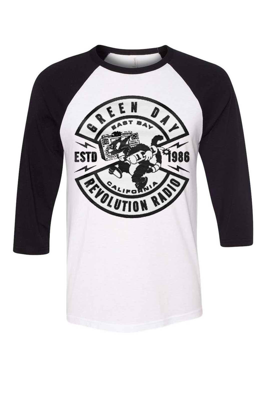 Baseball Tee Green Day Revolution Radio