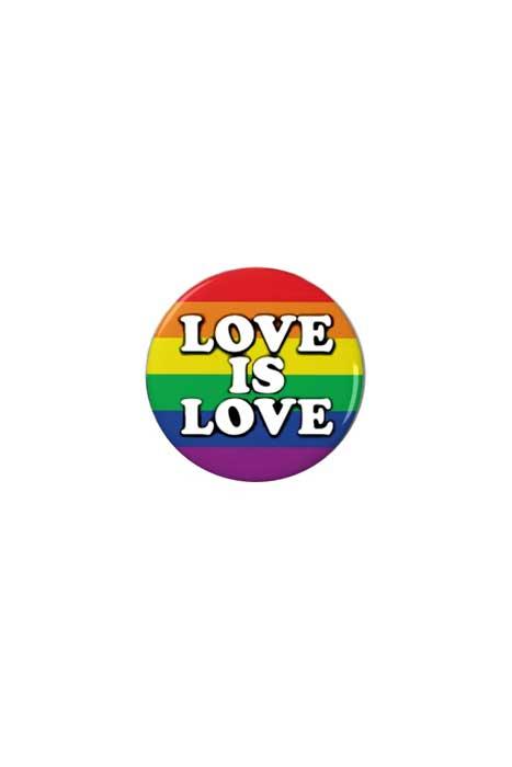 Köp Love Is Love Badge online hos Shock | Statement Pins 10 kr!