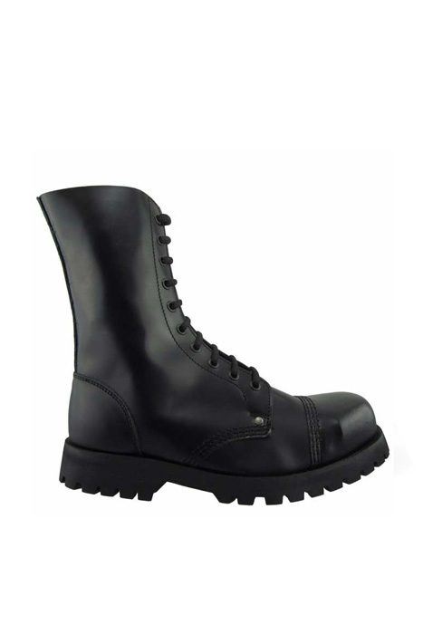 10 EYE STEEL TOE BOOTS LEATHER