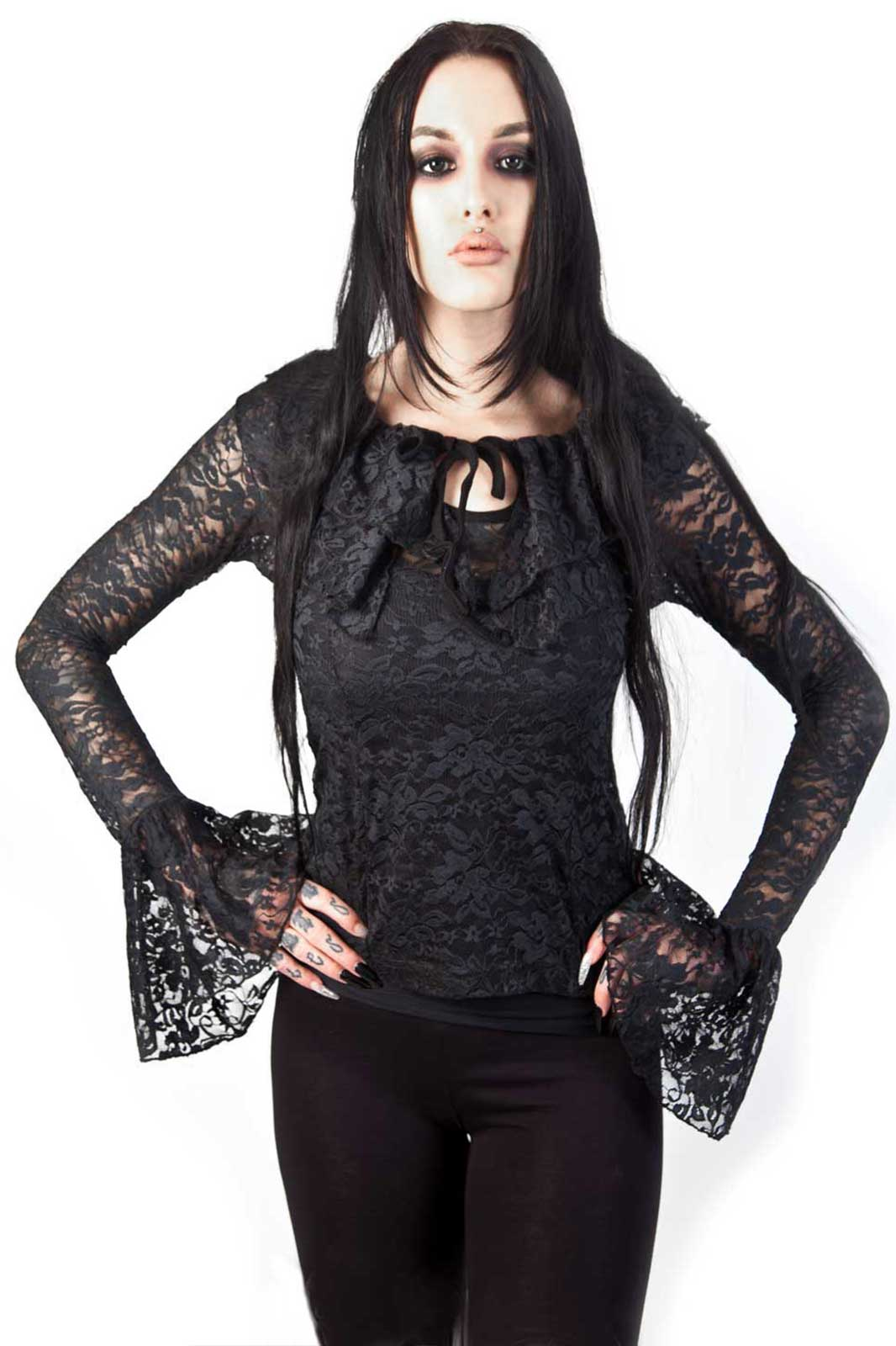 Brenda Gothic Lace Top