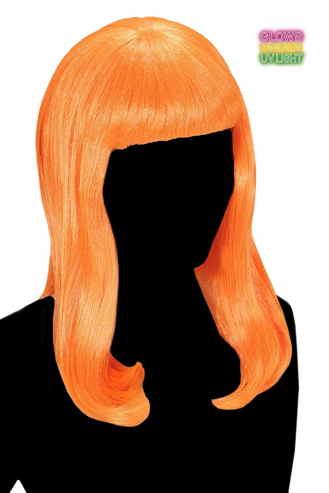 Neon Orange Patsy Wig
