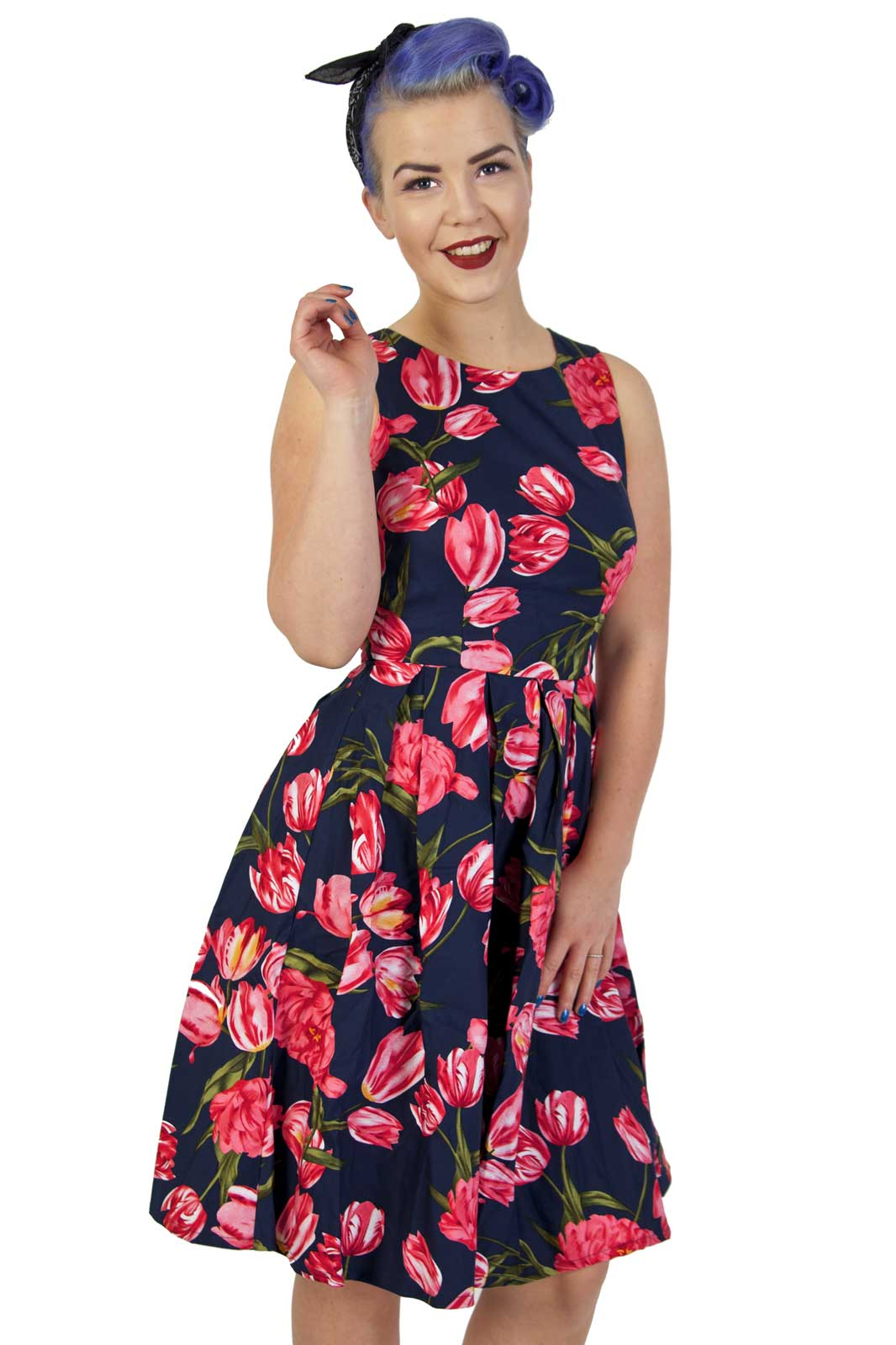 Annie Retro Tulip Swing Dress