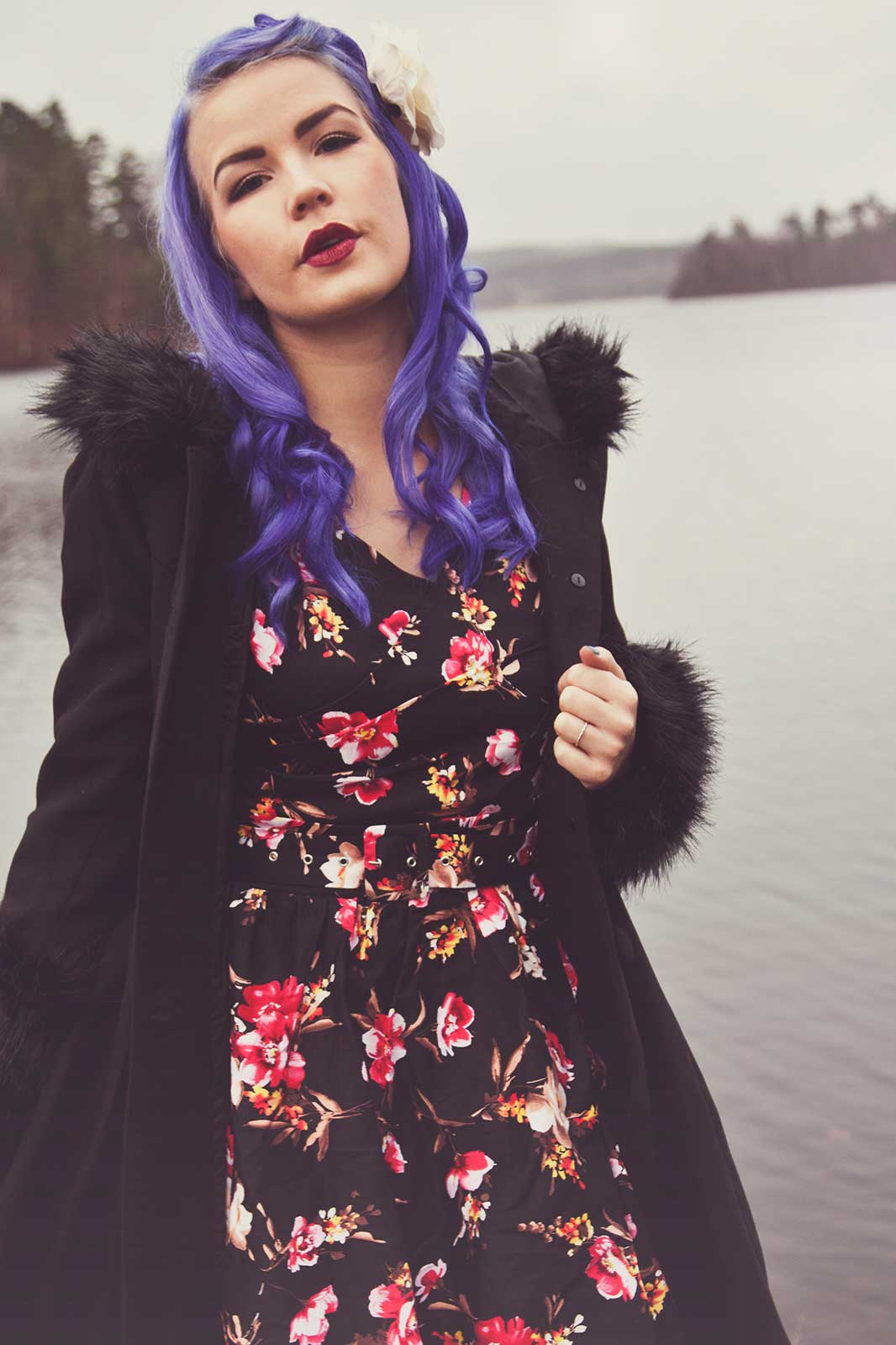 May Floral Swing Dress