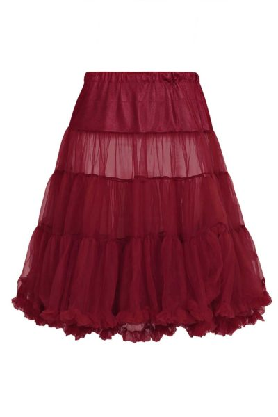 Long Petticoat Burgundy