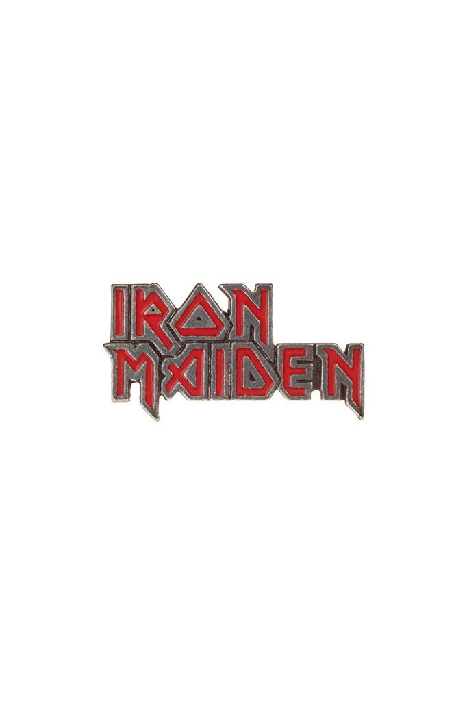 Pewter Badge Iron Maiden Enamel Logo