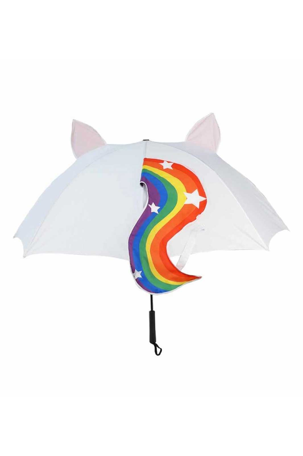 Rainbow Unicorn Umbrella Back