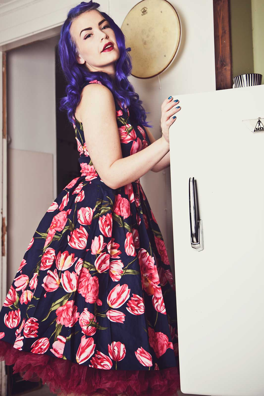Annie Retro Tulip Swing Dress
