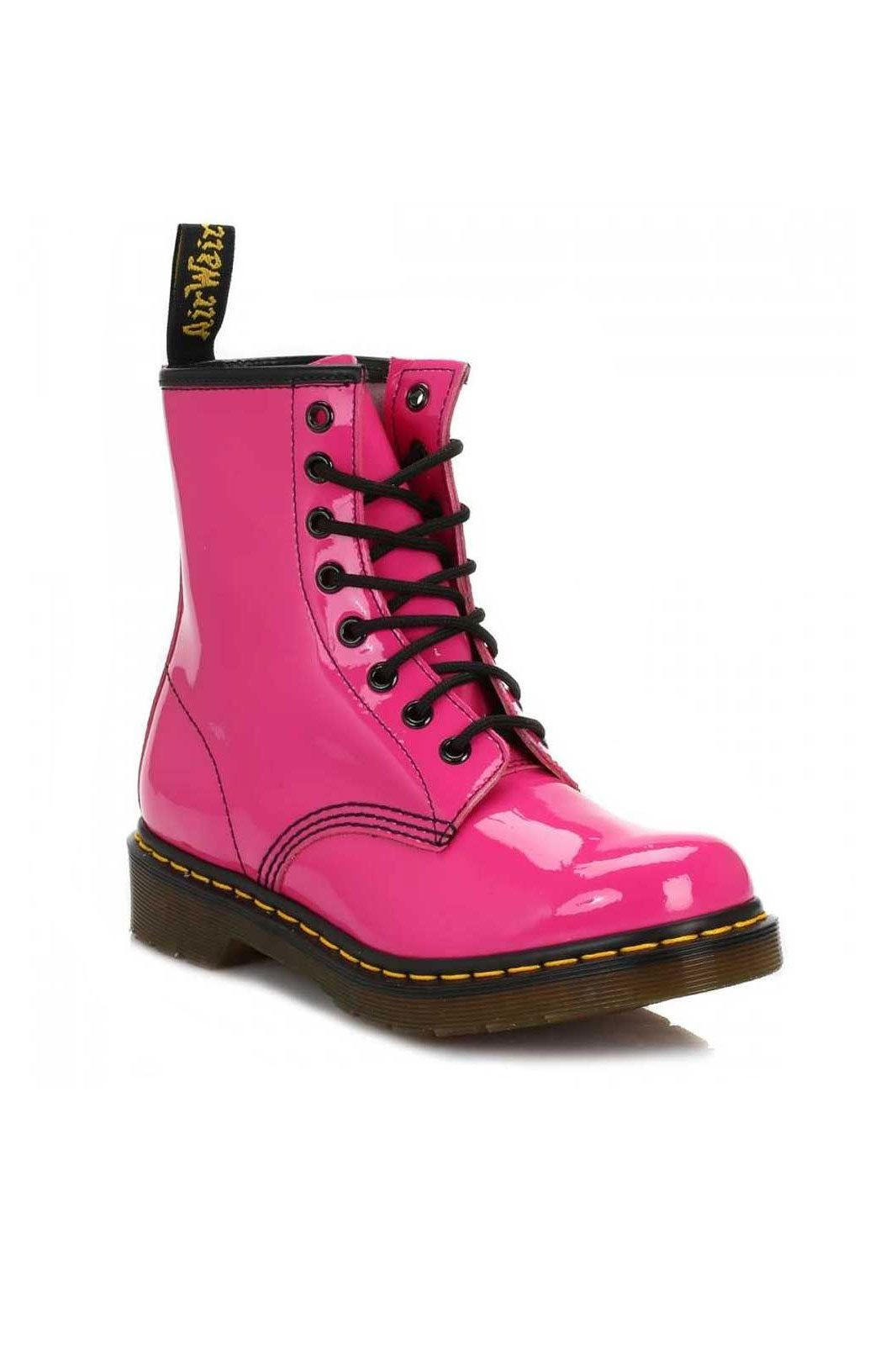 dr martens 1460 patent hot pink