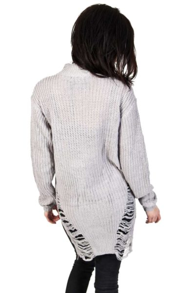 Slit Decay Jumper Grey