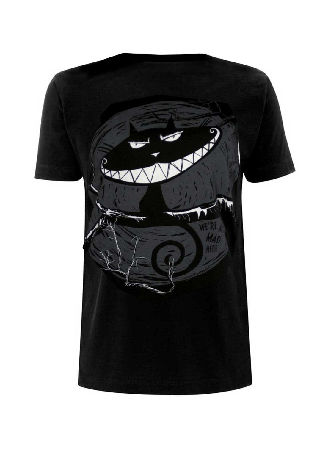 Cheshire Cat Tee Black